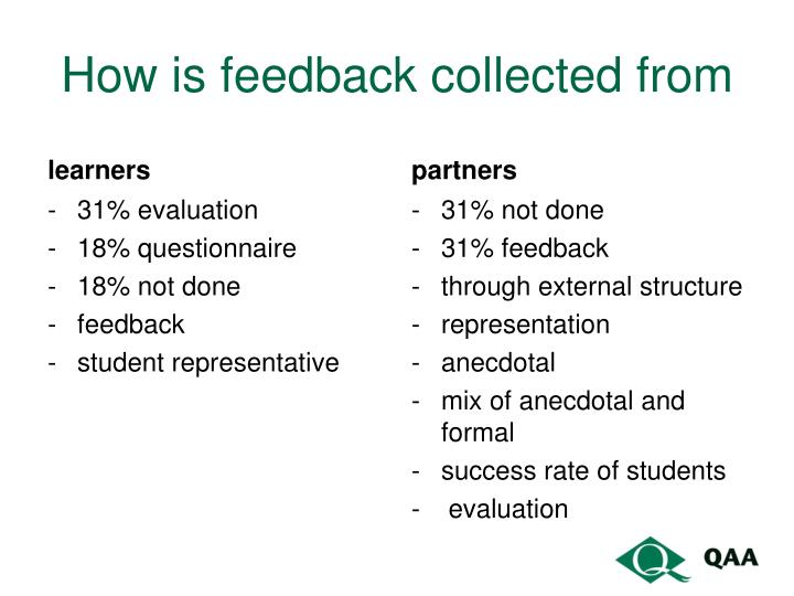 How is feedback collected from