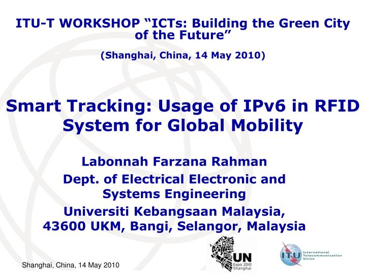 Smart tracking usage of ipv6 in rfid system for global mobility