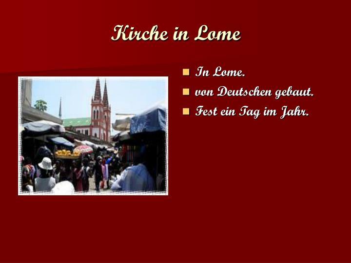 Kirche in Lome