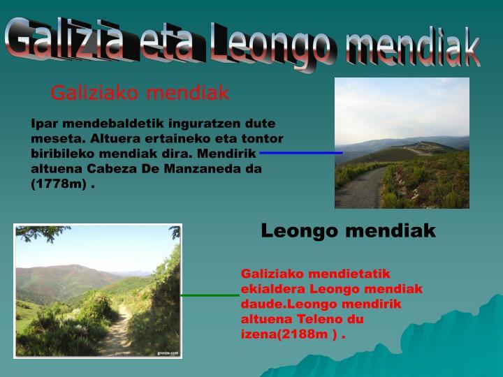 Galizia eta Leongo mendiak