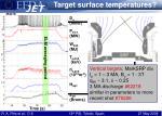 target surface temperatures1
