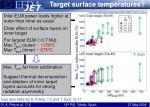 target surface temperatures2
