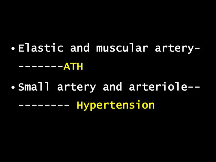 Elastic and muscular artery--------