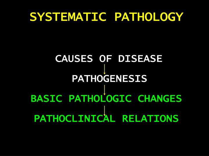 SYSTEMATIC PATHOLOGY