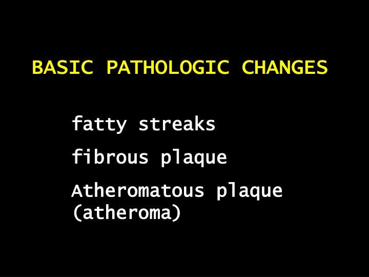 BASIC PATHOLOGIC CHANGES
