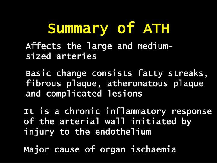 Summary of ATH