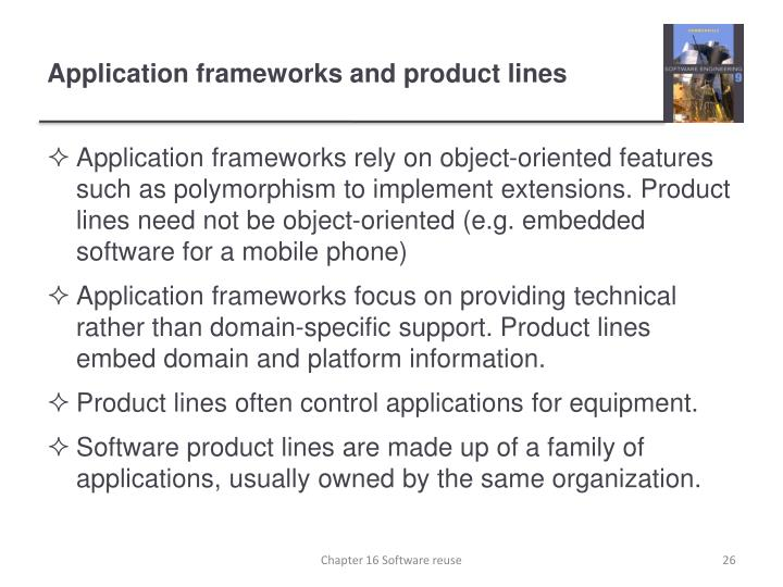 Application frameworks and product lines