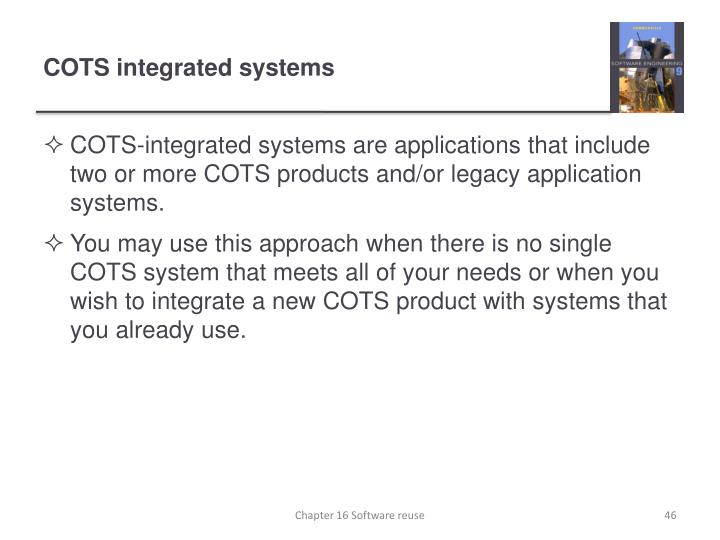 COTS integrated systems