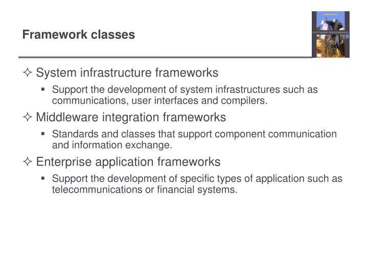 System infrastructure frameworks