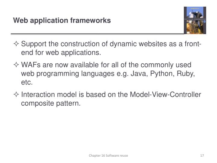 Web application frameworks
