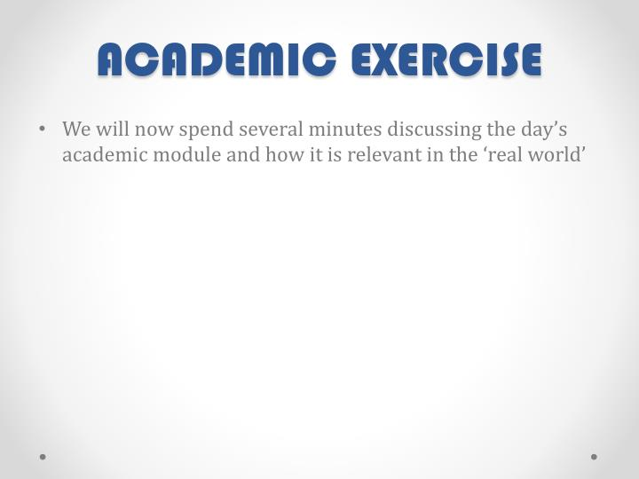 ACADEMIC EXERCISE