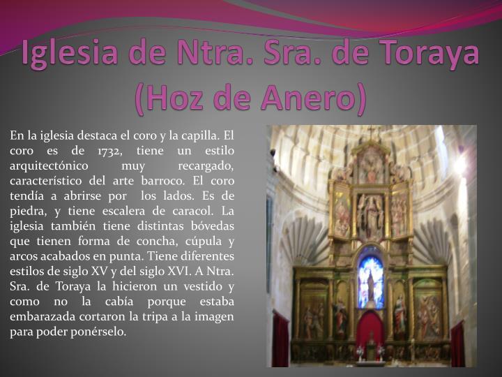 Iglesia de Ntra. Sra. de Toraya (Hoz de Anero)