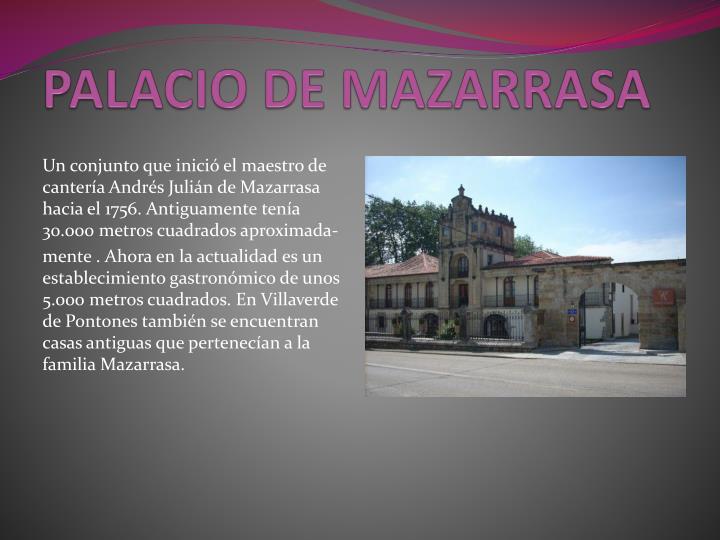 PALACIO DE MAZARRASA