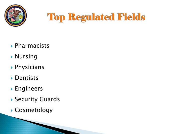 Top Regulated Fields