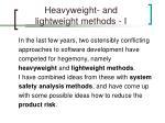 heavyweight and lightweight methods i