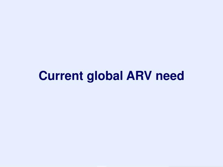 Current global ARV need