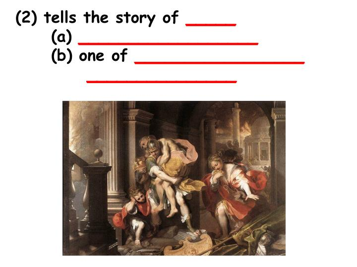 (2) tells the story of