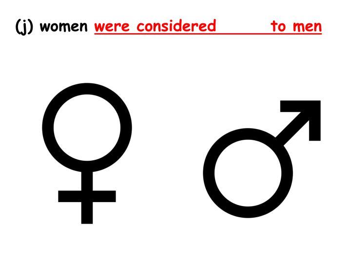 (j) women