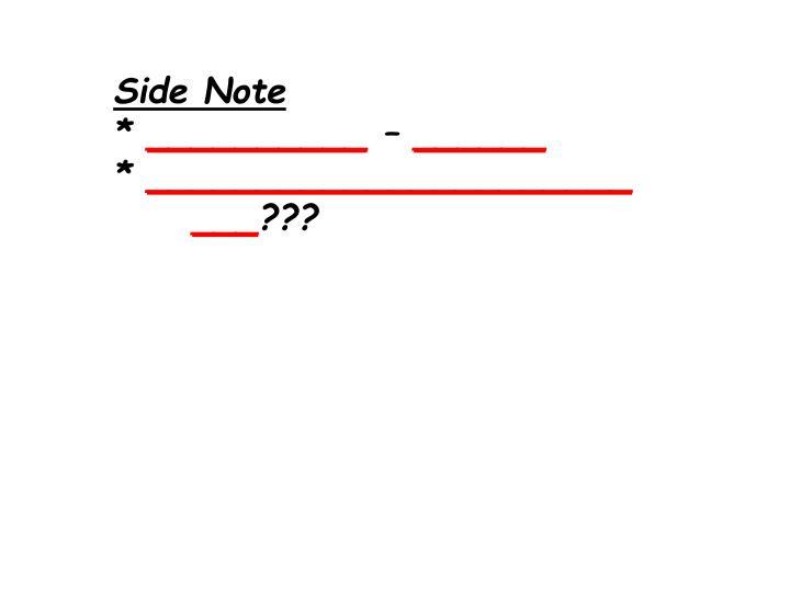 Side Note