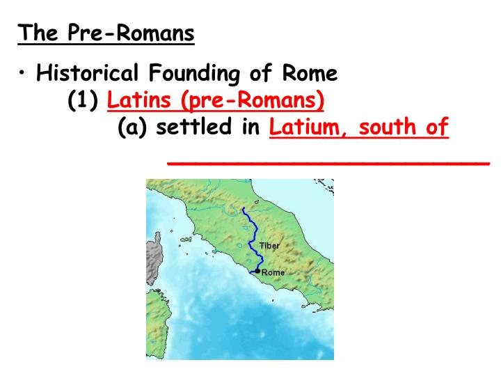 The Pre-Romans