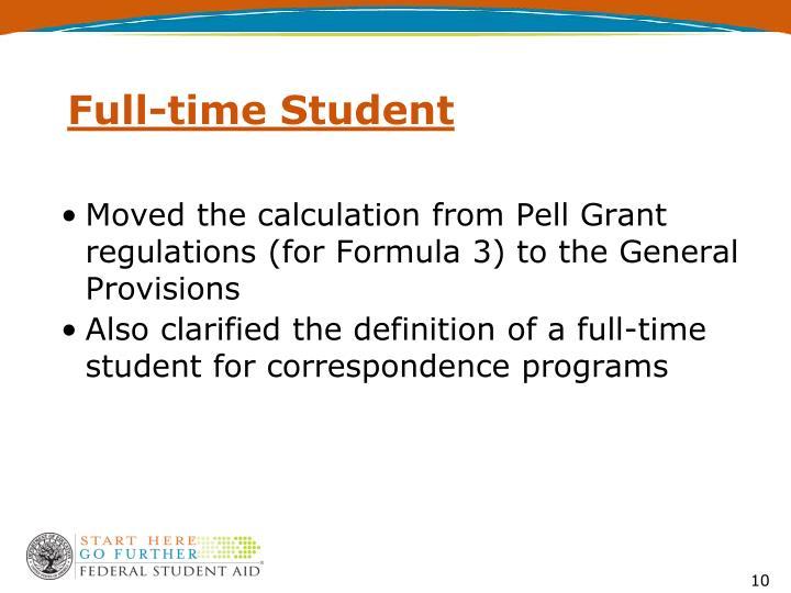 Full-time Student
