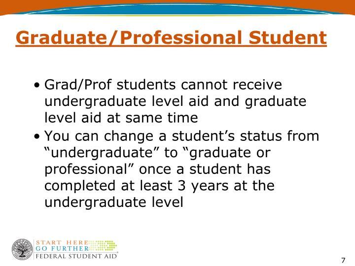 Graduate/Professional Student