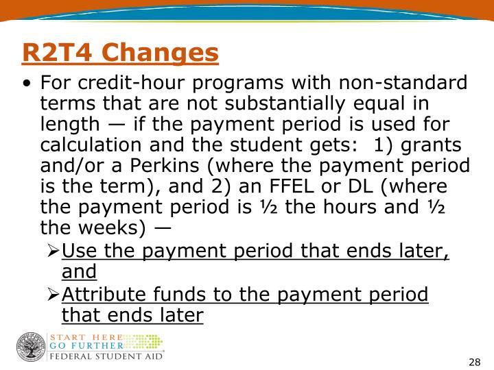 R2T4 Changes