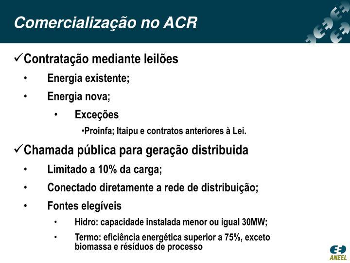 Comercialização no ACR