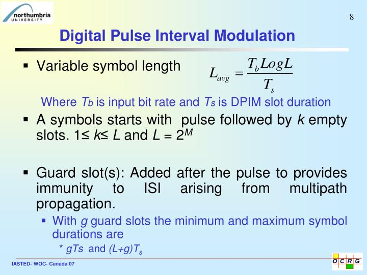 Digital Pulse Interval Modulation