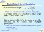 digital pulse interval modulation