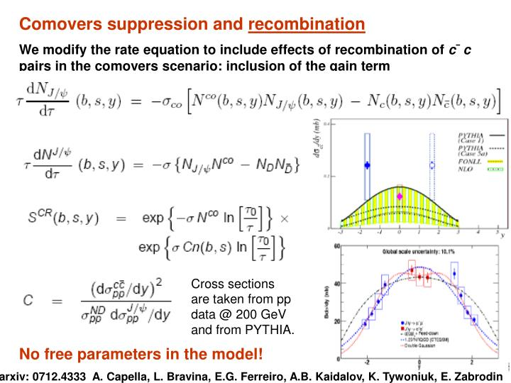 Comovers suppression and