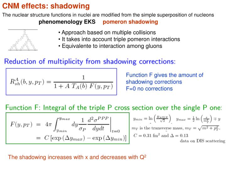 CNM effects: shadowing