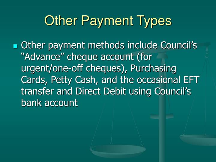 Other Payment Types