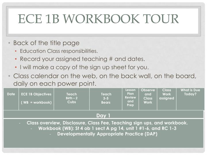 ECE 1B Workbook Tour