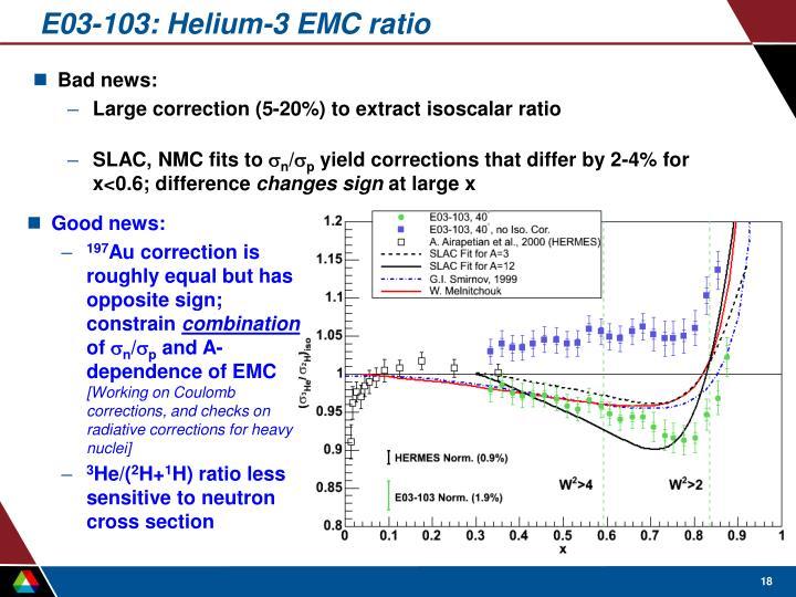 E03-103: Helium-3 EMC ratio