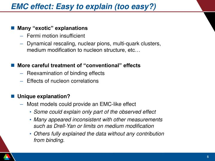 EMC effect: Easy to explain (too easy?)