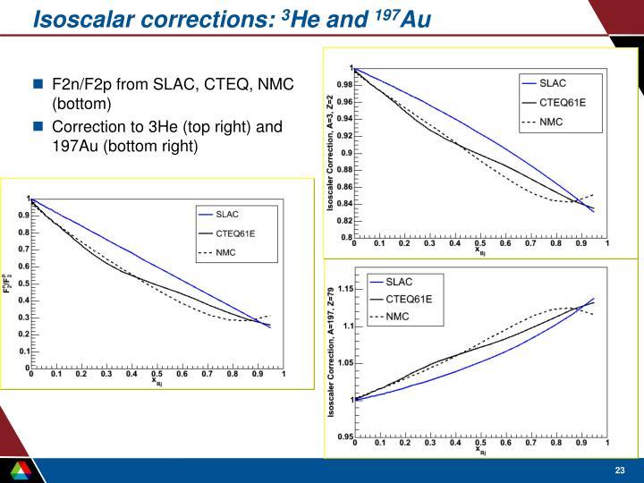 Isoscalar corrections: