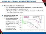 properties of bound nucleons emc effect