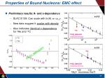 properties of bound nucleons emc effect1
