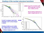 scaling of the nuclear structure functions