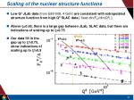 scaling of the nuclear structure functions1