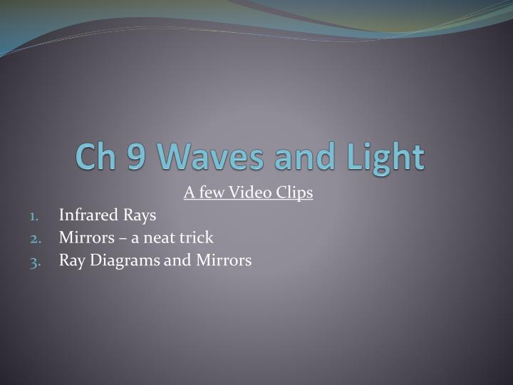 Ch 9 Waves and Light