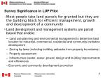 survey significance in lup pilot