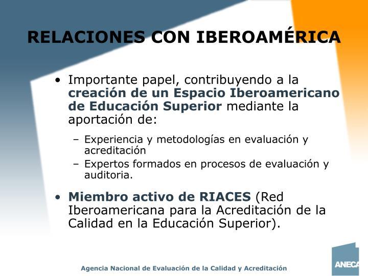 RELACIONES CON IBEROAMÉRICA