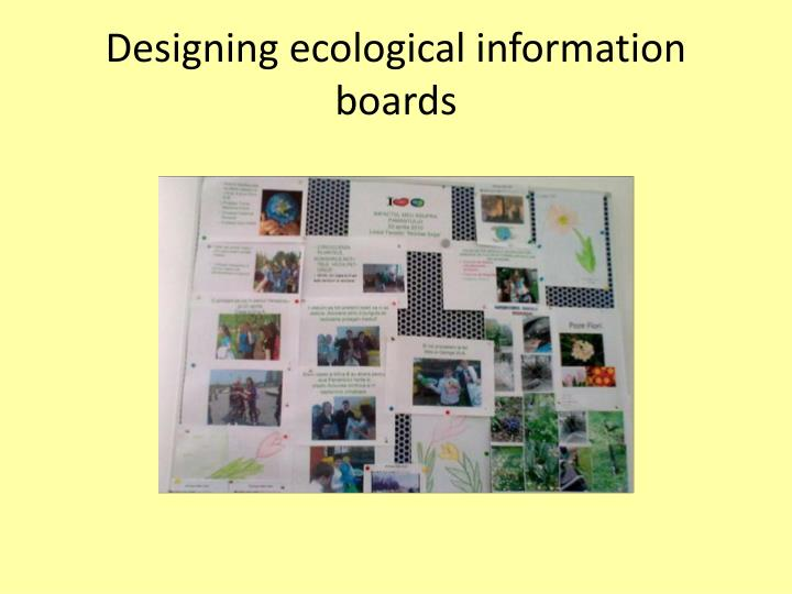Designing ecological information boards