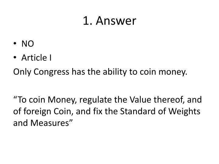 1. Answer