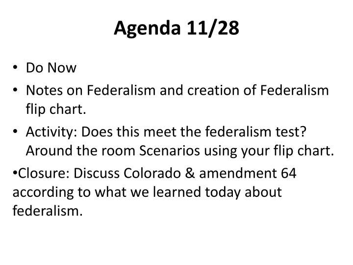 Agenda 11/28