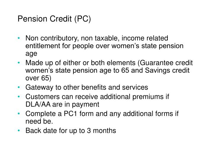 Pension Credit (PC)