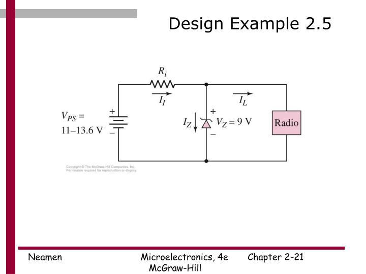 Design Example 2.5
