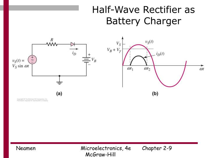 Half-Wave Rectifier as Battery Charger